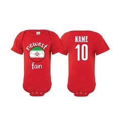 99020bed7c2 Iran Bodysuit Newest Fan National Team Soccer Baby Girls Boys Customized (T- Shirt 3T