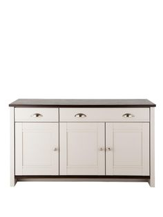 Consort Tivoli Large Ready Assembled Sideboard - Grey/Walnut-Effect | very.co.uk