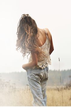 ♥ Lace cami and denim