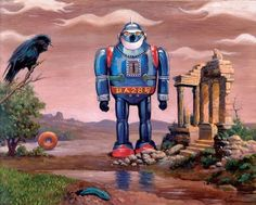 Galleries for Gallery Artist Eric Joyner Painter of Robot and Donuts Artwork Eric Joyner, Robot Art, Robots, Domo Arigato, Space Toys, Lowbrow Art, Pop Surrealism, Sci Fi Art, Big Eyes