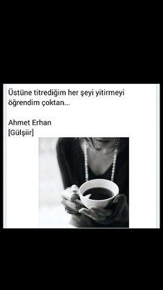 Üstüne titrediğim her şeyi yitirmeyi öğrendim çoktan Ahmet Erhan