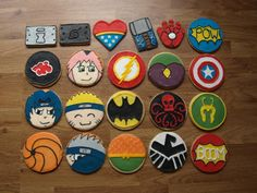 Naruto and Superhero Cookies - Cake by Cathy's Cakes