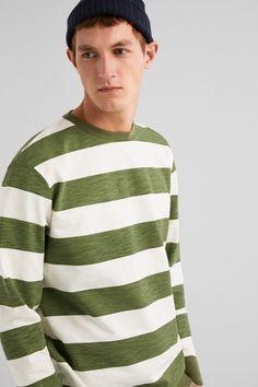 Springfield Sweatshirt decote caixa riscas verde Mens Sweatshirts, Men Sweater, Long Sleeve, Sleeves, Sweaters, Mens Tops, T Shirt, Products, Fashion