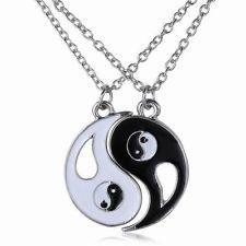 YING YANG Asia Yoga yin Dragon Halskette Kette Anhänger