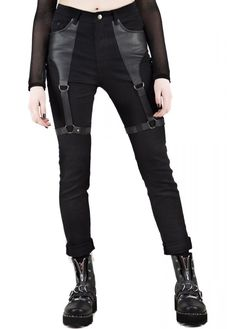 Banned Apparel Move on Rockabilly Check Tratan Slasher Cut Trousers Retro Gothic