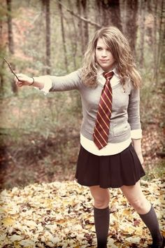 Hermione Halloween costume was perfect for school as a teacher