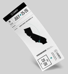 Boarding pass for the Launch Tradeshow