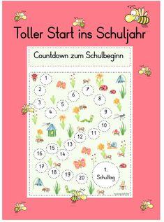 Countdown, Bullet Journal, Map, Organization, Beginning Of School, First Day Of School, First Class, Elementary Schools, Tutorials
