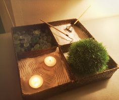 Relieve stress with your very own mini zen garden for your desk!