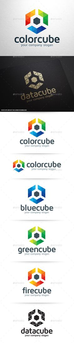 Color Cube Logo Template for sale #vector #logodesign #modern #logo #template #stocklogo #corporate #identity #hexagon #colorful #business #company #branding #buy #sale #sell #web #print #graphicdesign