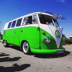 What a great colour  # #Bulli #aircooled #volks #vwbus #bus #vwbulli #kombi #vwkombi #instavw #vwallday #vwforlife #vwlovers #vintage #Oldtimer #fehmarn #midsummerfestival #bullifestival #bullitreffen #VW #T1 #stance