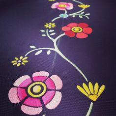 Embroidery traditional flowers Sardinia!