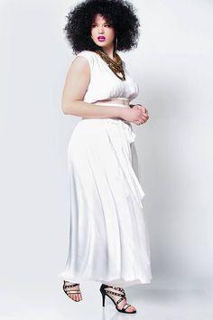 5d2baa2d1eb13 JIBRI High Waist Belted Maxi Skirt Chic side pockets Attached wrap belt  Fabrication  Cotton Blend · Curvy Girl FashionPlus Size ...