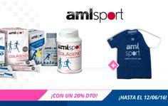 2ª unidad al 20% de dto. en la marca amlsport en NutriTienda