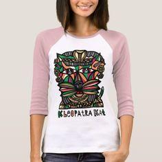 "#women - #""Kleopatra Kat"" Women's Raglan T-Shirt"