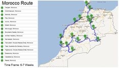 Morocco Travel Route