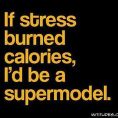 Funny pictures about If stress burned calories. Oh, and cool pics about If stress burned calories. Also, If stress burned calories. Great Quotes, Quotes To Live By, Inspirational Quotes, Awesome Quotes, Bad Quotes, Just For Laughs, Burn Calories, Mantra, Laugh Out Loud
