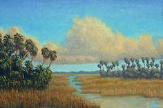 Marsh Painting Original Fine Art by Laurie Kopec Florida Landscape Art