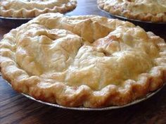 Perfect pie crust - light and flaky, but nice butter flavor