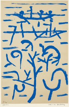Boats in the Flood, 1937, Paul Klee Size: 32.5x49.5 cm