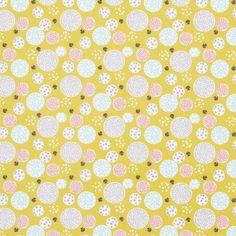 Tissu coton imprimé pompons - Déco Garçon - ENFANTS Mondial Tissus