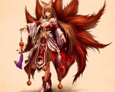 Red Kitsune; Fantasy; Game