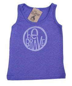 Be Brave kids tank top