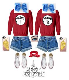 """""""Best friends"""" by hbpags ❤ liked on Polyvore featuring Converse, Casetify and MINX"""