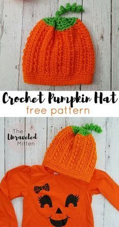 The Callie Horse Hat: Free Crochet Pattern Crochet Pumpkin Hat, Crochet Fall, Holiday Crochet, Crochet Bebe, Crochet Baby Hats, Cute Crochet, Crochet Ideas, Crochet Projects, Crocheted Hats