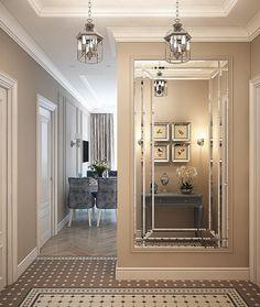 Flur im lcd filigran. Classic Interior, Home Interior Design, Interior Architecture, Hallway Decorating, Entryway Decor, Decoration Hall, Neoclassical Interior, Flur Design, Hallway Designs