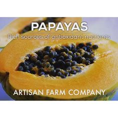 Backyard Benefits Series XIII: #Papaya is a great source of #antioxidants. Let Artisan Farm Company help you. Sign up for our email list, or give us a buzz. www.artisanfarmcompany.com :ghost: ArtisanFarmCo -------------------------------------- :thumbsup: