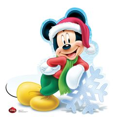 Mickey Mouse Holiday Lifesize Cardboard Standee
