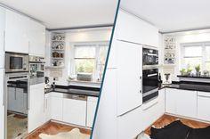 Küchenrenovierung Kitchen Island, Kitchen Cabinets, Home Decor, Old Kitchen, Closet, Simple, Island Kitchen, Decoration Home, Room Decor