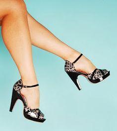 Retro cheetah heels