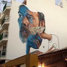 Artist: @belin_one  Location: Tenerife Spain  Photo: repost - check out @taggdstreetart for the original photo!  ℹ More street art at StreetArtRat.com  #travel #streetart #street #streetphotography #tflers #sprayart #urban #urbanart #urbanwalls #wall #wallporn #graffitiigers #stencilart #art #graffiti #instagraffiti #instagood #artwork #mural #graffitiporn #photooftheday #streetartistry #pasteup #instagraff #instagrafite #streetarteverywhere #belin_one #spain #tenerife
