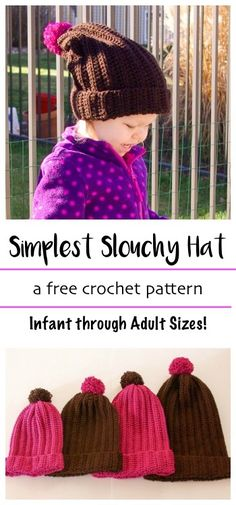 With this FREE crochet pattern Style meets simplicity. Make the Simplest Slouchy Hat for everyone on your gift list and get it done in no time. This quick and modern pattern is perfect for learning, teaching, gifting and selling.