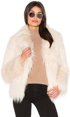 Shop Now - >  https://api.shopstyle.com/action/apiVisitRetailer?id=543535508&pid=uid6996-25233114-59 MAJORELLE Molly Faux Fur Coat in Ivory  ...