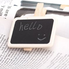 Promotion ! 10Pcs Mini Message Wooden Blackboard Note Photo Paper for Decor #Affiliate