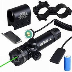 Niniso Shockproof 532nm Tactical Green Dot Laser Sight Rifle Gun Scope w/ Rail & Barrel Mount Cap Pressure Switch - http://our-shopping-store.com