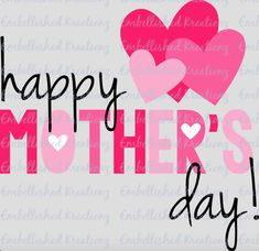 Happy Mother's Day with Hearts/Vinyl Decal/Mother's Day Gift/Quote by EmbellisheDKreationz on Etsy