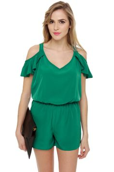 Ruf-Full House Green Romper at Lulus.com!