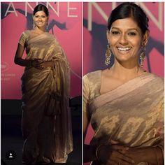 Nandita Das makes a splash in a classic Anavila zari sari #Cannes2017 | Tikli.in - Fashion Trends, Sarees, Brands, Reviews, Designer collections, Bollywood and More