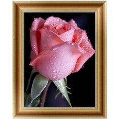 DIY 5D Diamonds Embroidery Pink Rose Round Diamond Painting Cross Stitch Kits Mosaic Home decor 30*40cm-W210