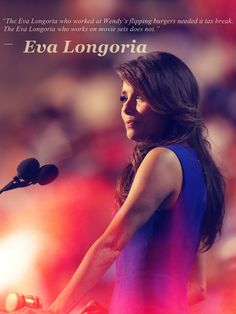 """The Eva Longoria who worked at Wendy's flipping burgers—she needed a tax break. But the Eva Longoria who works on movie sets does not.""  -Eva Longoria at the DNC...    Just another reason why i love her so much! <3"