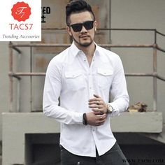 Mens Shirts Fashion Spring The New European And Mens Long Sleeve Shirt Fashion Color Matching Color Scotland Plaid Shirt 2019 New Fashion Style Online Casual Shirts Shirts