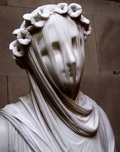 Breathtaking. Veiled Vestal Virgin - Raffaele Monti, 1847