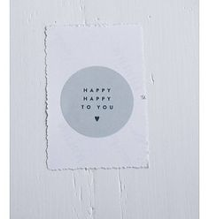 LabelSticker Happy Happy to you