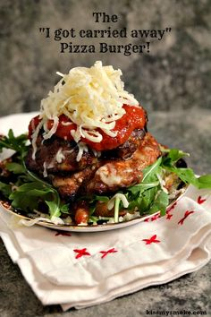 Grilled Pizza Burger