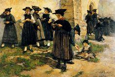 Ernest Bieler artiste peintre suisse et illustrateur pour des écrivains aussi connus que Zola , Daudet , Victor Hugo ...
