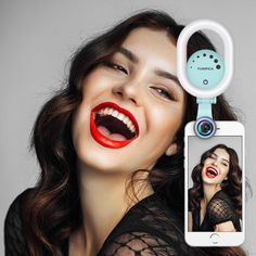 Evershop Selfie Light for iPhone with 120°Wide Angle Lens, Clip-on Rechargeable LED Ring Light for Samsung,HTC,iPad and all other Android/IOS/WP8 Smartphones and Laptops (Green)
